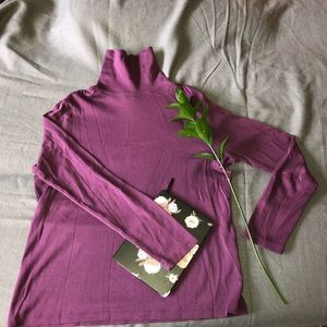 L.L. Bean Tops - Purple turtleneck with long sleeves